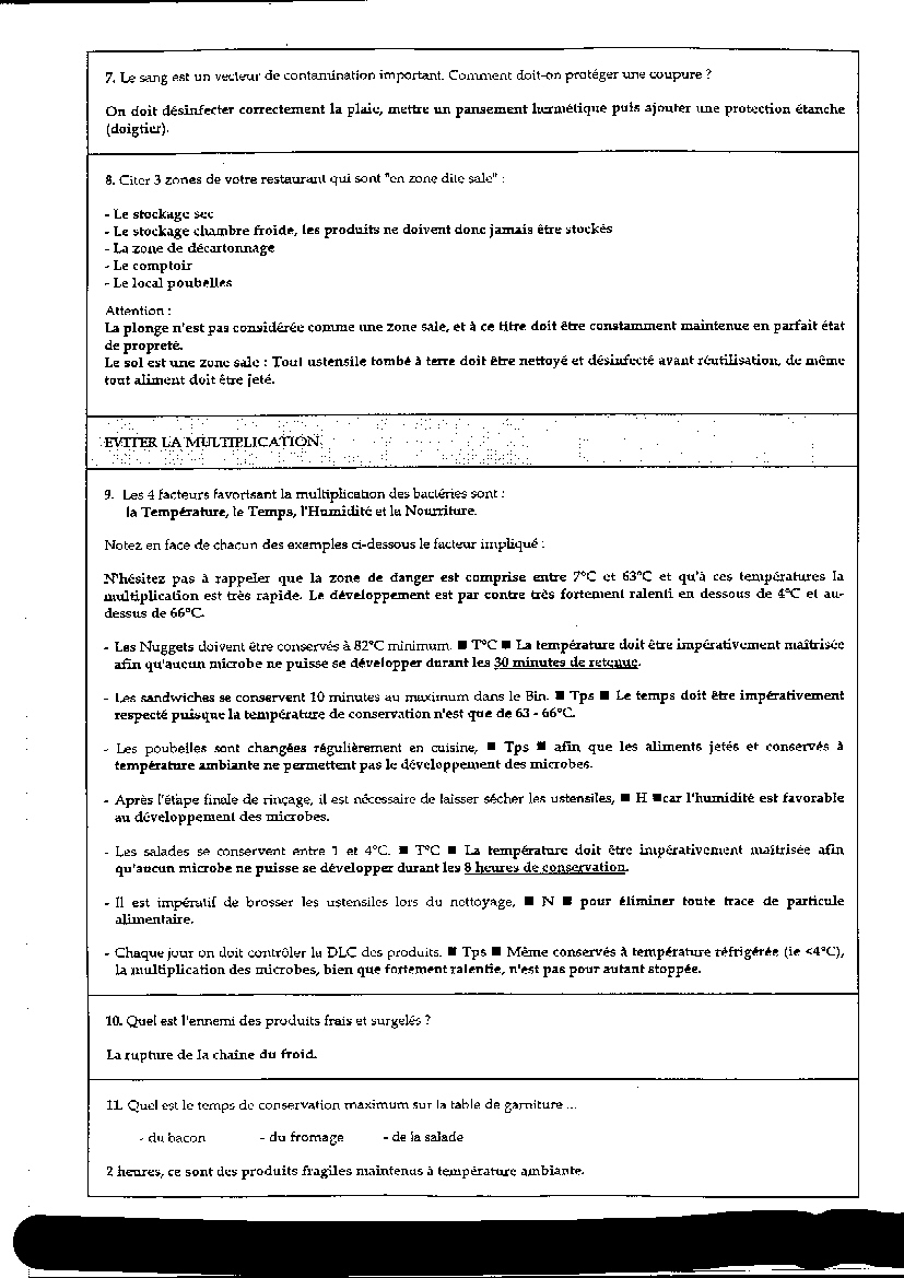Untitled document for Recherche emploi cuisine collective